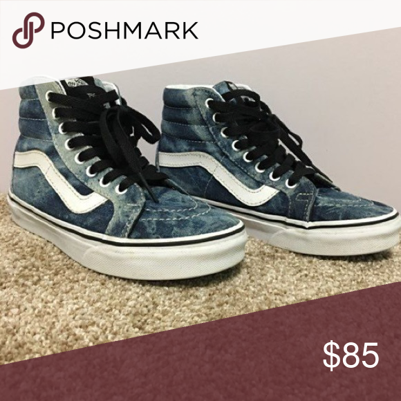 a92b708379 High Top Denim Vans Very cute stylish looks good with jean jacket. Size 6 1  2 women Vans Shoes Sneakers