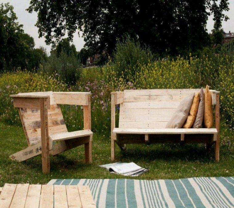 asientos modernos de palets - Asientos Con Palets