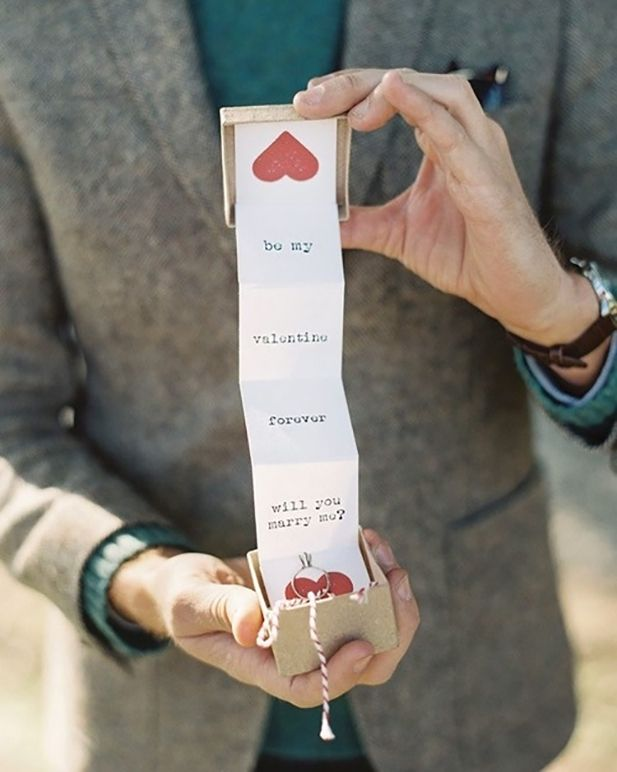 Marriage Proposal Hidden Inside Of A Valentine