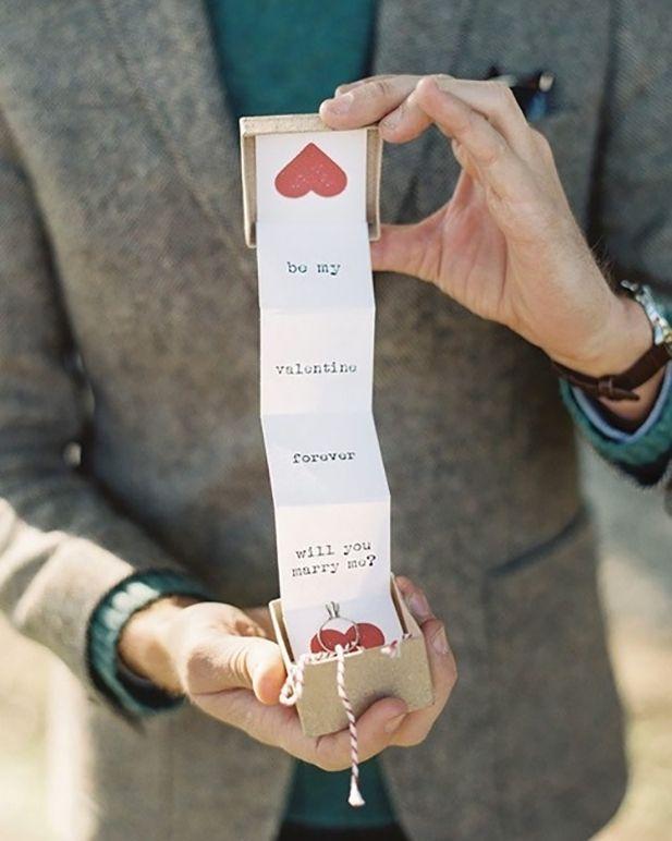 Marriage Proposal Hidden Inside Of A Valentine Image By Caroline Tran