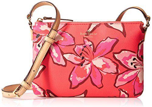 KATE SPADE Kate Spade New York Hawthorne Lane Floral Carolyn Cross Body Bag. #katespade #bags #lining #polyester #