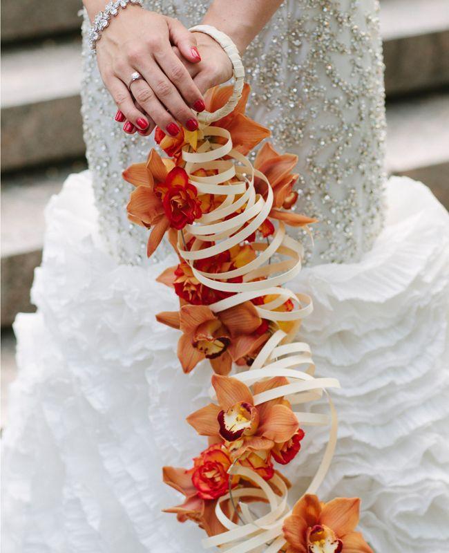 Hanging Flower Bracelet Bouquet | Holland Photo Arts | blog.TheKnot.com