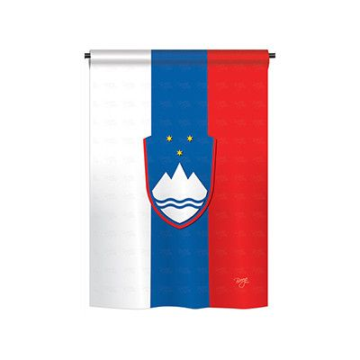 "TwoGroupFlagCo Slovenia 2-Sided Vertical Flag Size: 18.5"" H x 13"" W"