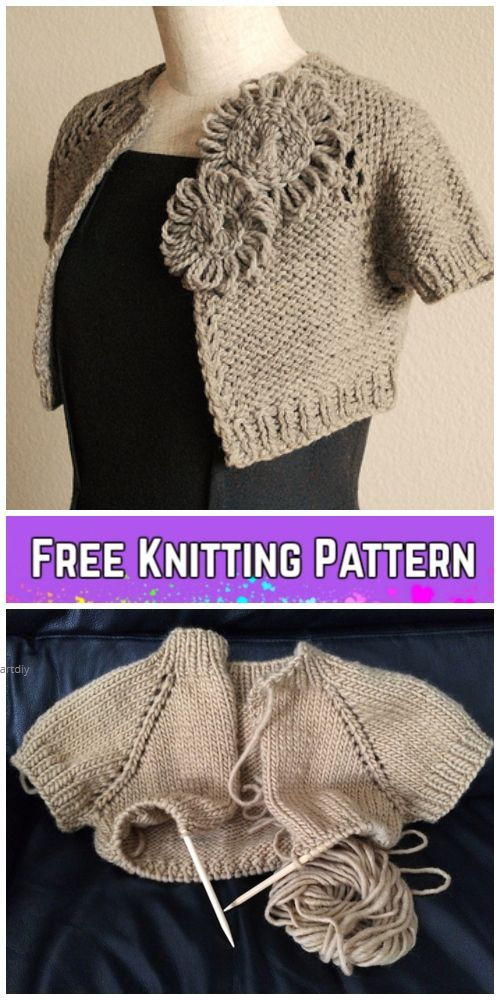 Knit Anthropologie-Inspired Capelet Free Knitting Pattern for Ladies ...