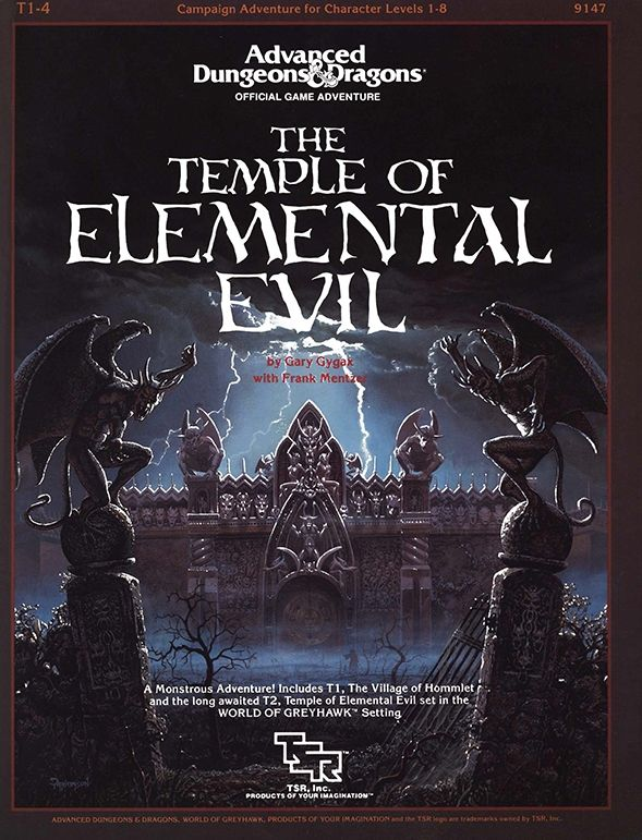 The Temple Of Elemental Evil 1e Adnd 1st Edition Campaign Is One