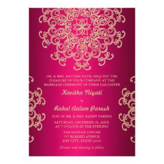 Roses Indien Et Faire Part De Mariage Indien De Mariage