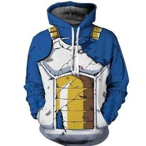 Superbe #sweat #DragonBall au design de l'armure de vegeta