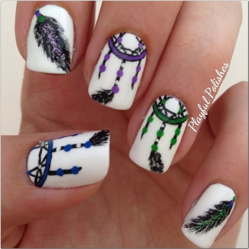 Nailpolis Museum of Nail Art | Dream Catcher (Right hand) by Playful  Polishes - Nailpolis Museum Of Nail Art Dream Catcher (Right Hand) By Playful
