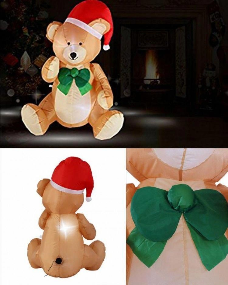 ICYMI Christmas Inflatable Bear Outdoor Lighted Airblown Holiday