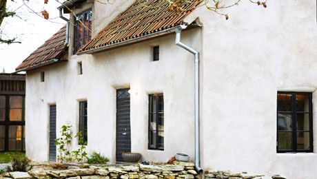 White Plaster House Cottage Exterior House Exterior Island House