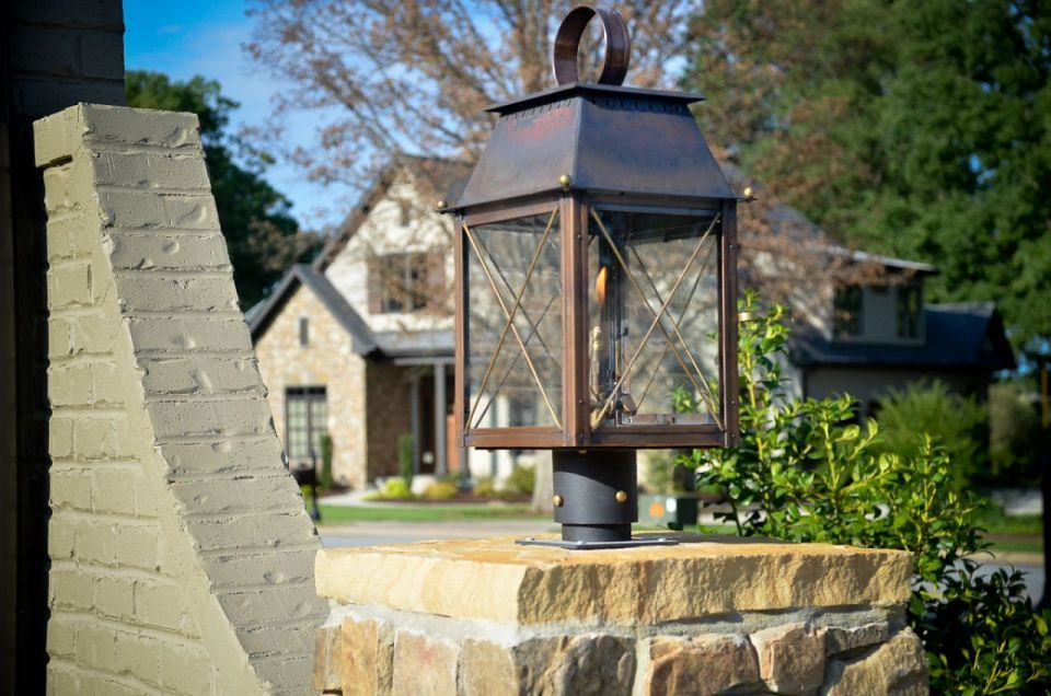 Coach House On Column Mount Customer Photo · Lantern LightingOutdoor ...