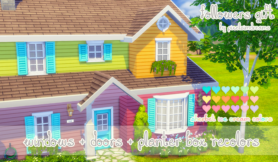 sims 4 ccu0027s the best windows doors planter box recolors by pixelsim find this pin and more