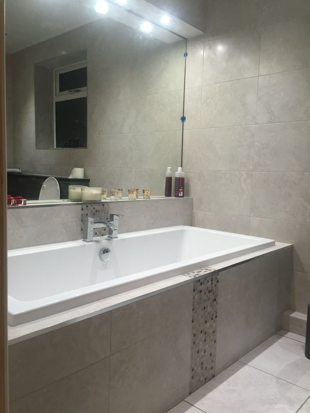 Boxed In Bath Wall Mirror And Bathroom