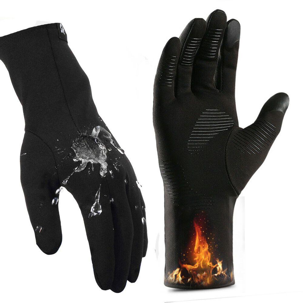 Winter Warm Touch Screen Gloves Windproof Waterproof Anti slip Cycling Gloves UK