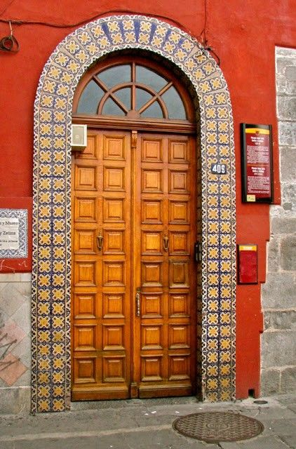 Beautiful Entryway Surrounded By Talavera Tiles