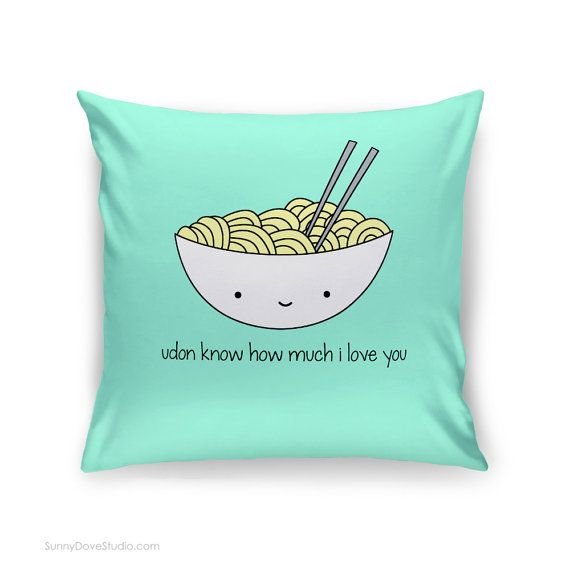 Cute Pillow For Boyfriend : Cute Pillow Cover Love Quote Sushi Pun Gift for Girlfriend Boyfriend Romantic Anniversary ...