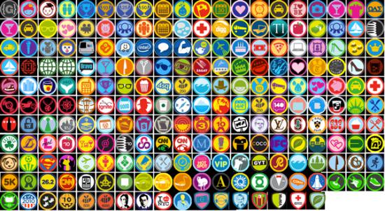 Badges foursquare