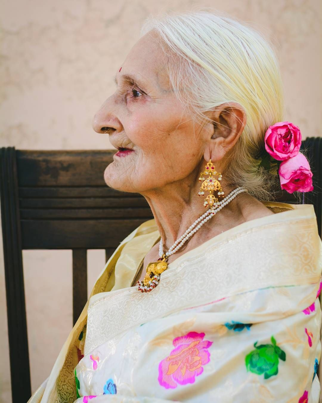 """1,185 Likes, 83 Comments - Divya (@thepowderpuffgal) on Instagram: """"LEGACY OF STYLE - I introduce to you Shirimati Sudarshana Sharma, my grandma and of the most…"""""""