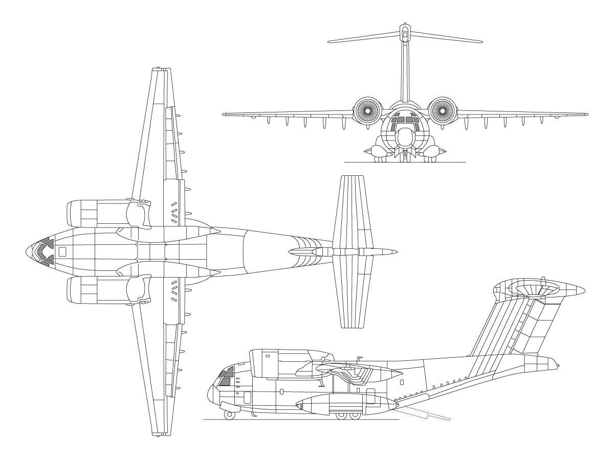 Orthographically Projected Diagram Of The Yc 14