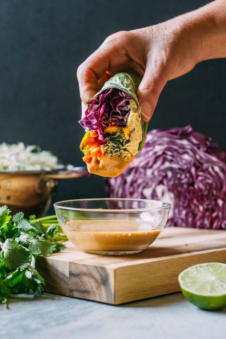Photo of Mango Cashew Collard Wrap Recipe | VEEG