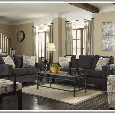 Kühl, Dunkel Grau Sofa Wohnzimmer Ideen Wohnzimmer grau
