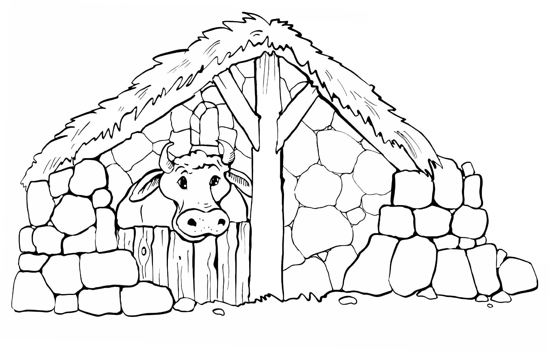 Stall Mit Kuh Ausmalbilder Biblisch Ausmalbilder Ausmalen Und Kuh