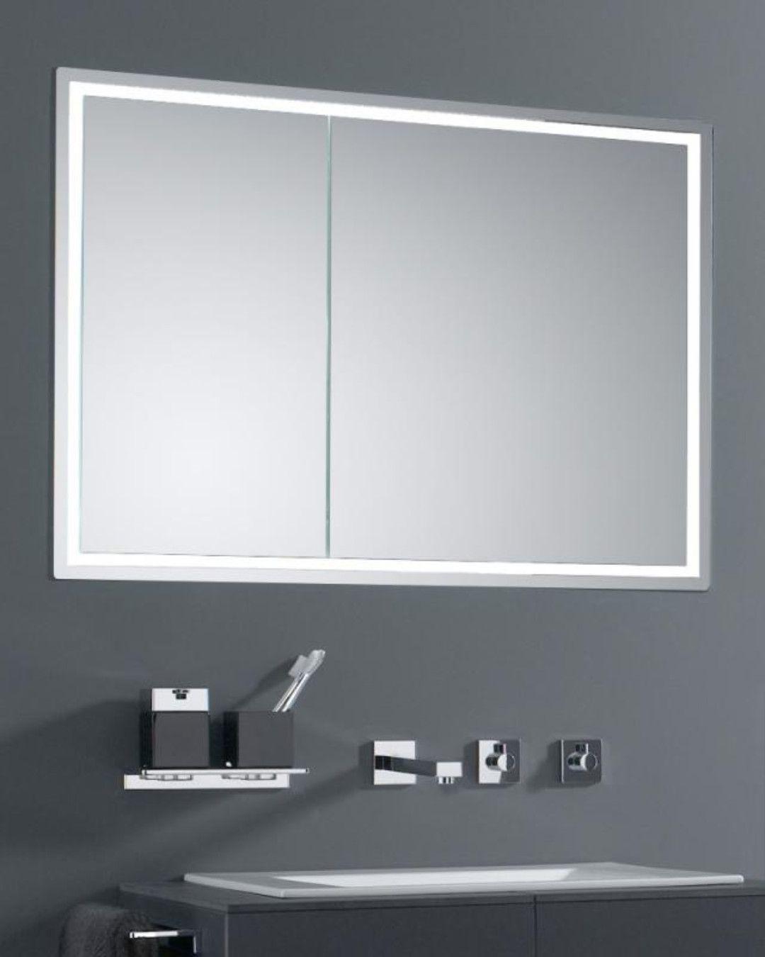 Emco Prestige Unterputz Lichtspiegelschrank Breite Tur Rechts 989706024 Unterputz Spiegelschrank Spiegelschrank Schrank