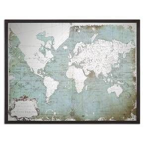 Mirrored world map target nautical items pinterest target mirrored world map target gumiabroncs Image collections