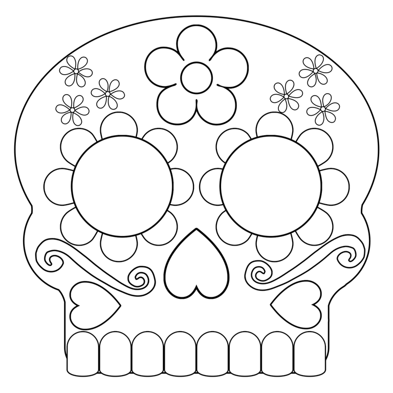 Day of the Dead Masks Sugar Skulls Free Printable | Day of ...