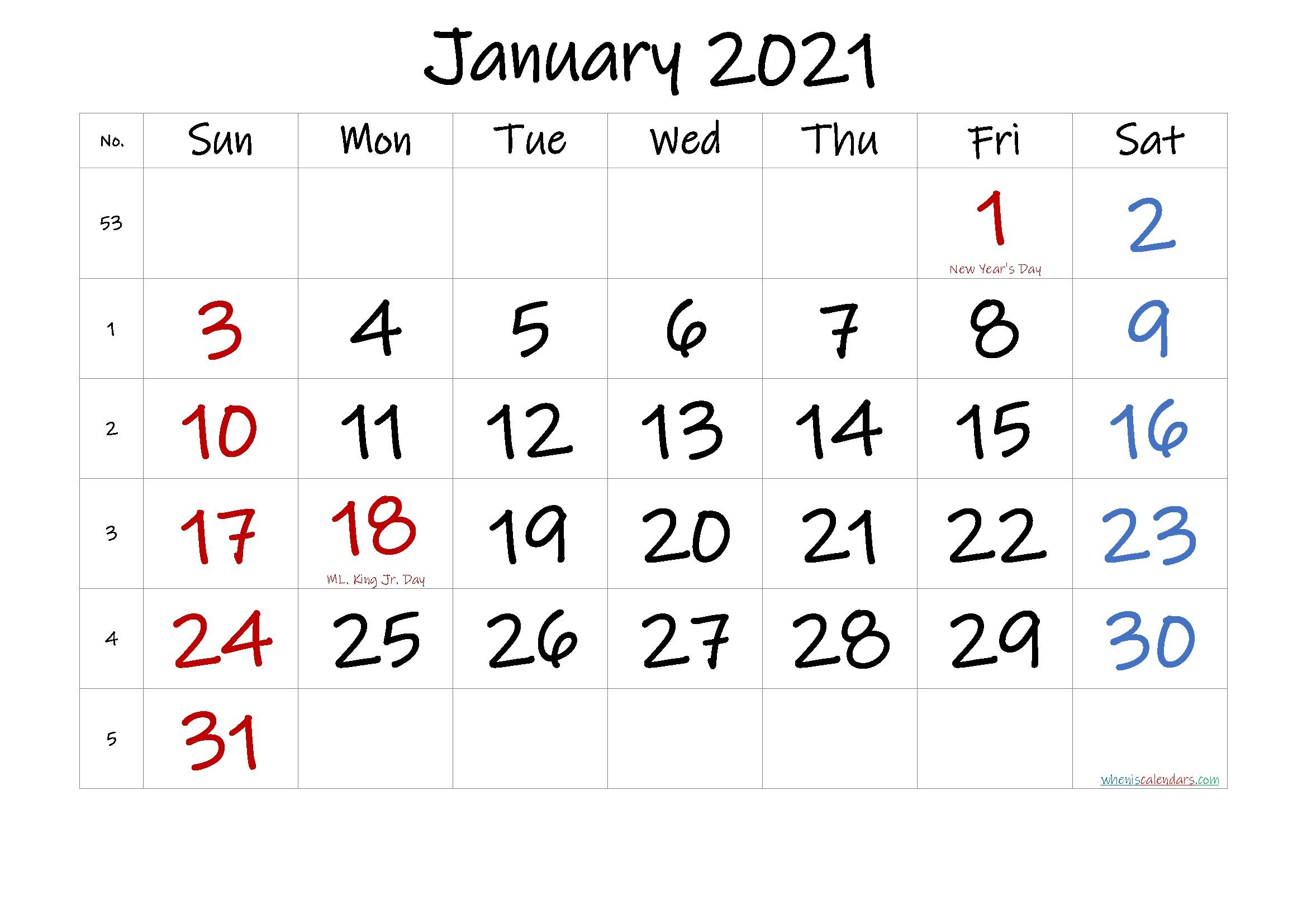 Printable Calendar January 2021 In 2020 Printable Calendar Design Calendar Printables Printable Calendar