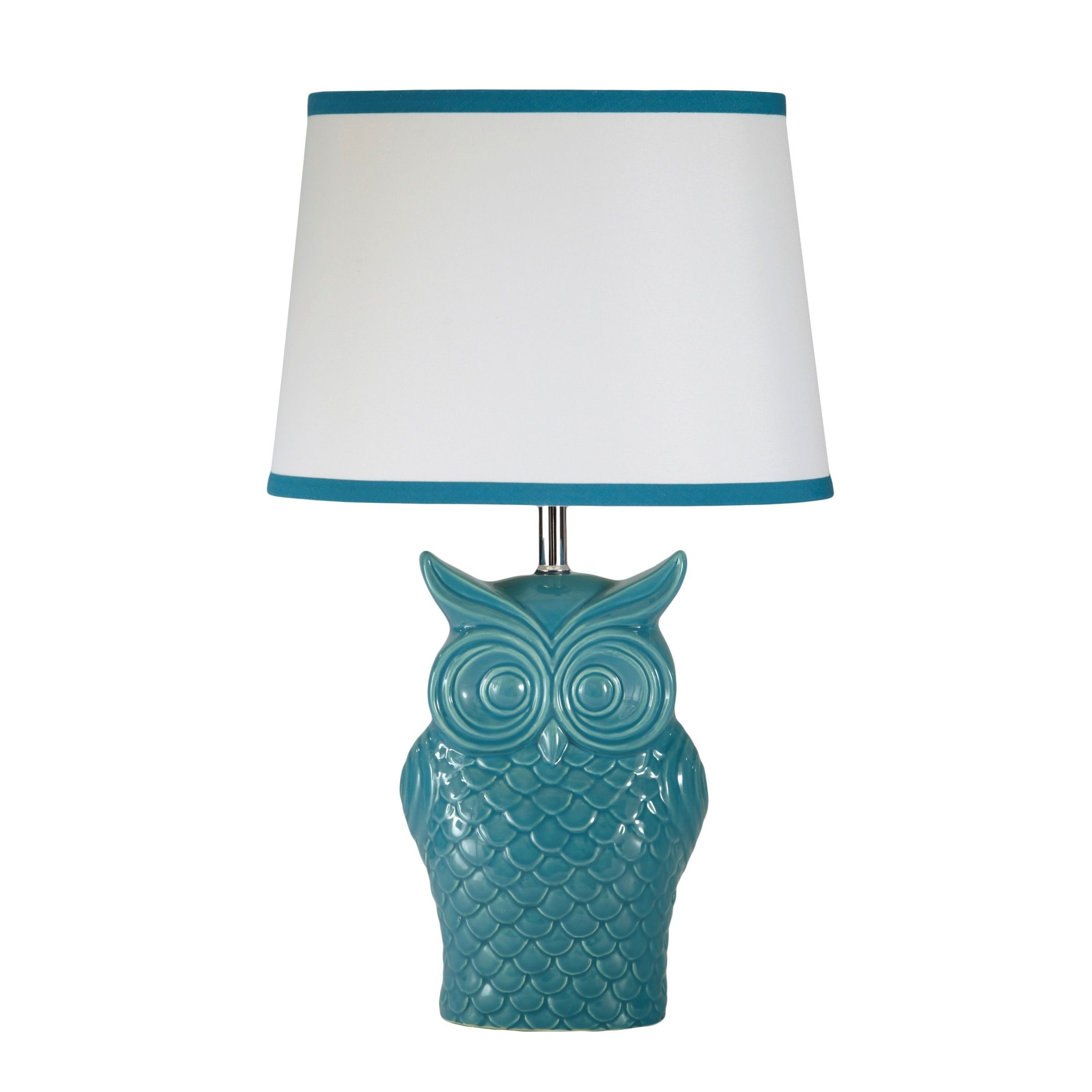 Modernize Your Home Decor With This Bright Table Lamp. Featuring A Colorful  Blue Ceramic Owl