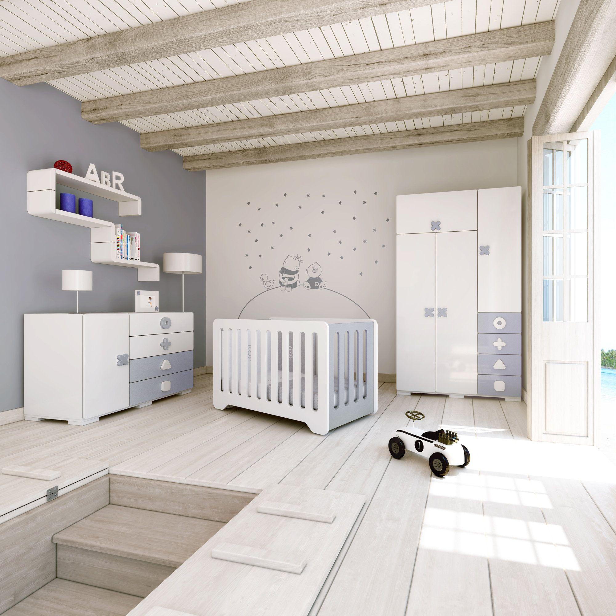Habitaciones infantiles de dise o y originales para beb s colecci n maths alondra - Diseno de habitaciones infantiles ...
