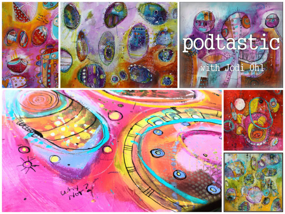 Black Friday Sale!  30 %  off Pod-Tastic an Open Ended Online Workshop Abstract Painting Course using Acrylic Paint by Jod Ohl