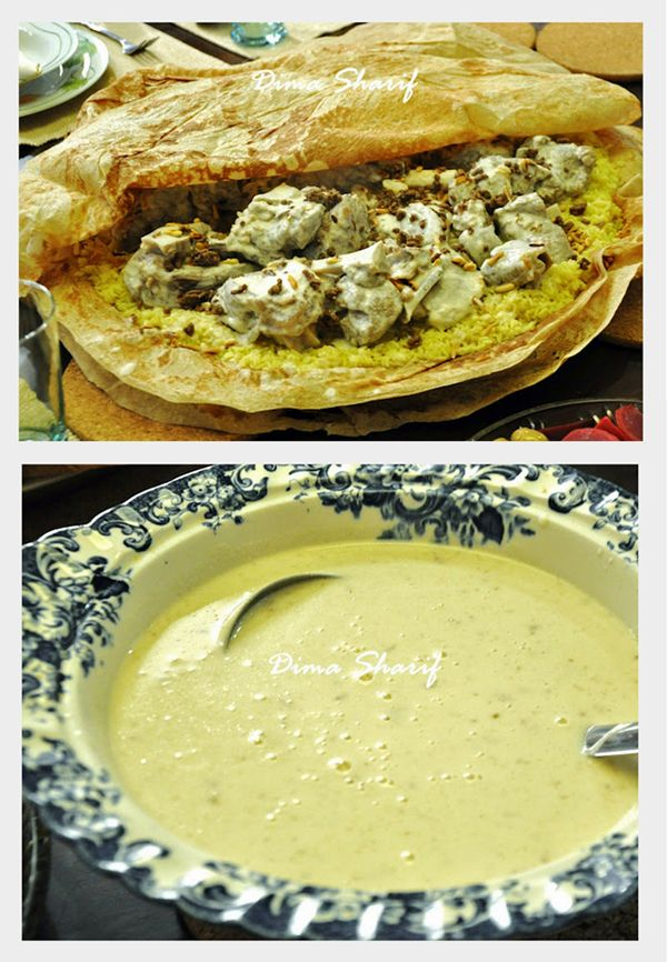 """Jordanian Mansaf """"Drawn mainly from Bedouin Traditions"""