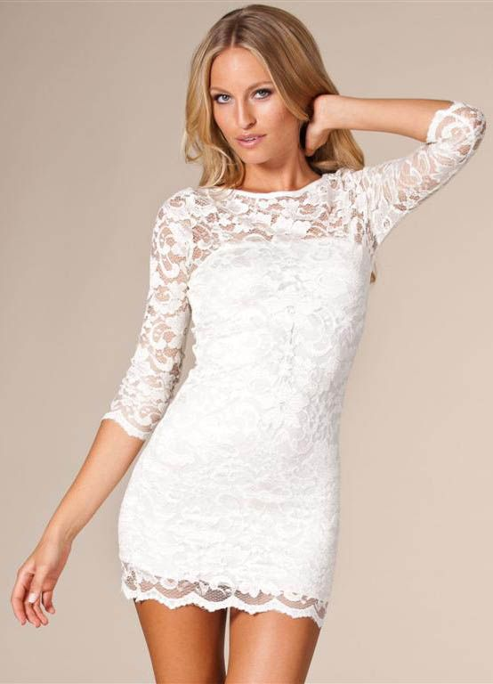 Bodycon dress in lace