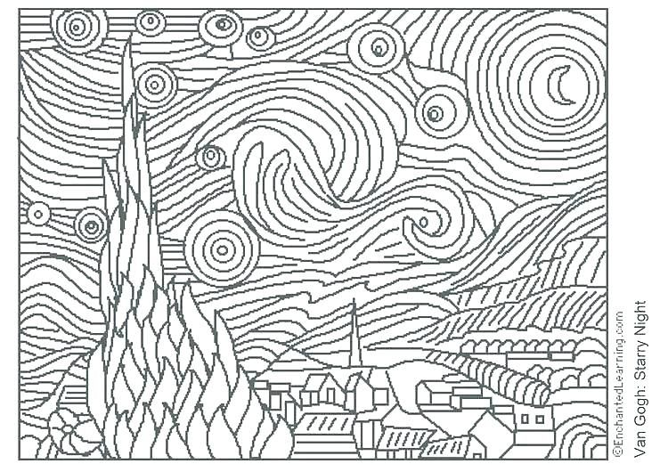 Art Masterpieces To Color Masterpiece Coloring Pages Colouring Art Masterpiece Coloring Pages Art Impressionist A Famous Art Coloring Famous Art Famous Artwork