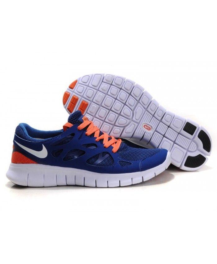f34e4a345eb1 Nike Free Run 2 Mens UK Sale Drench Blue Orange White