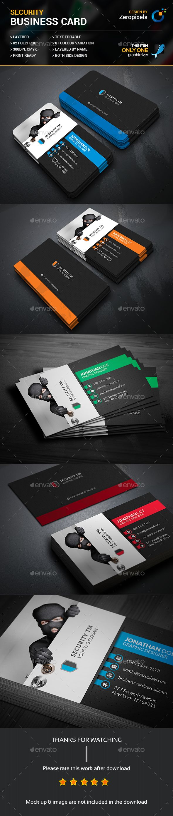 Home Security Business Card - Industry Specific Business Cards ...