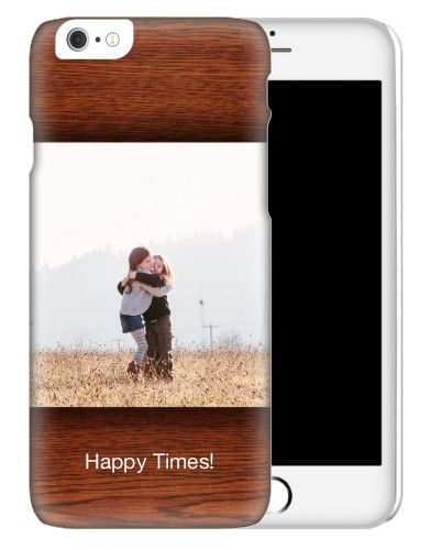 iPhone Cases: Woodgrain, Slim case, Glossy, iPhone 6s, Brown