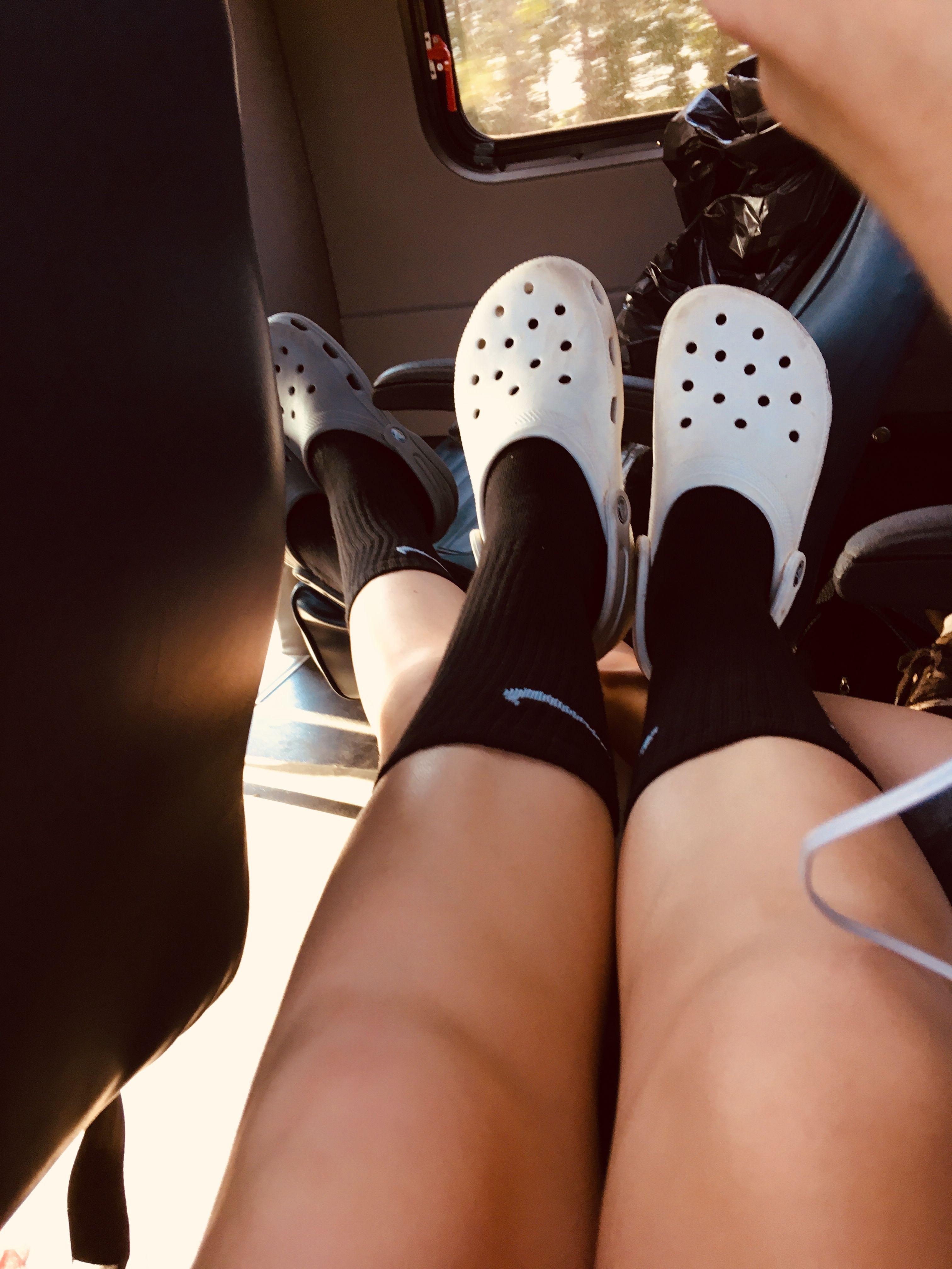 CrocsLife   Nike socks outfit, Nike