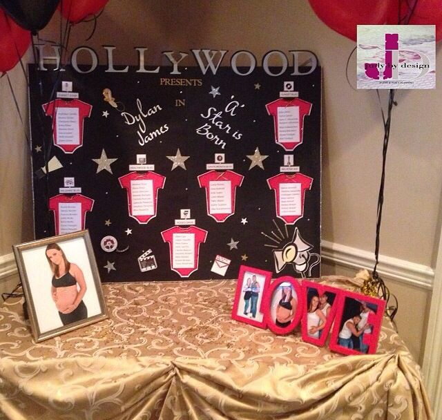 """""""A star is born"""" Hollywood baby shower 