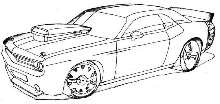 Dessiner une voiture de course facilement recherche - Voiture simple a dessiner ...