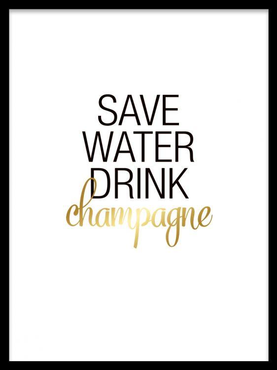 Fin Tavla Med Text I Guld Handla Smidigt Online Champagne Kokstavla