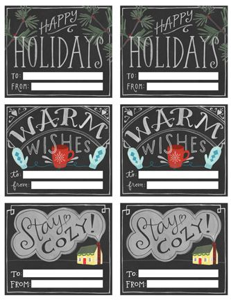 Warm wishes printable gift tags diy printables freebies youll love these free printable chalkboard style gift tags poppytalk the beautiful the decayed and the handmade free chalkboard style printable gift negle Choice Image