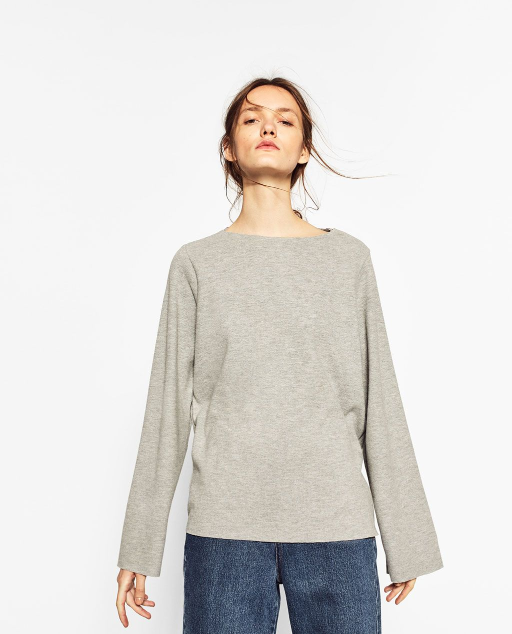 c76d6357e13 BELL SLEEVE SWEATER-NEW IN-TRF