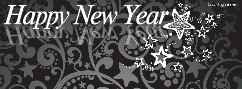 Happy New Year Stars Facebook Cover