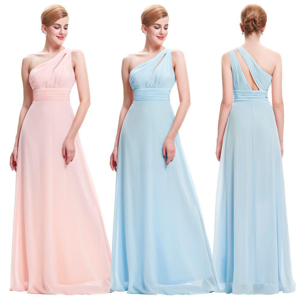 Long chiffon wedding evening party ball gown prom bridesmaid dress