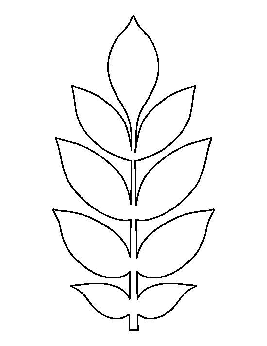Ash Leaf Pattern. Use The Printable Outline For Crafts, Creating Stencils,  Scrapbooking,