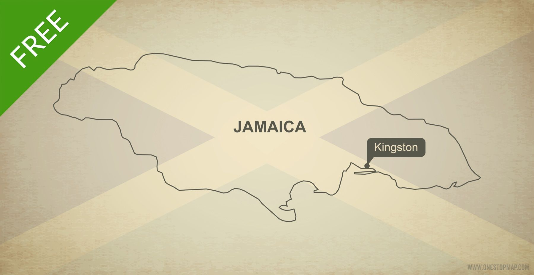 Free Vector Map of Jamaica Outline | Pinterest | Outlines and Free maps