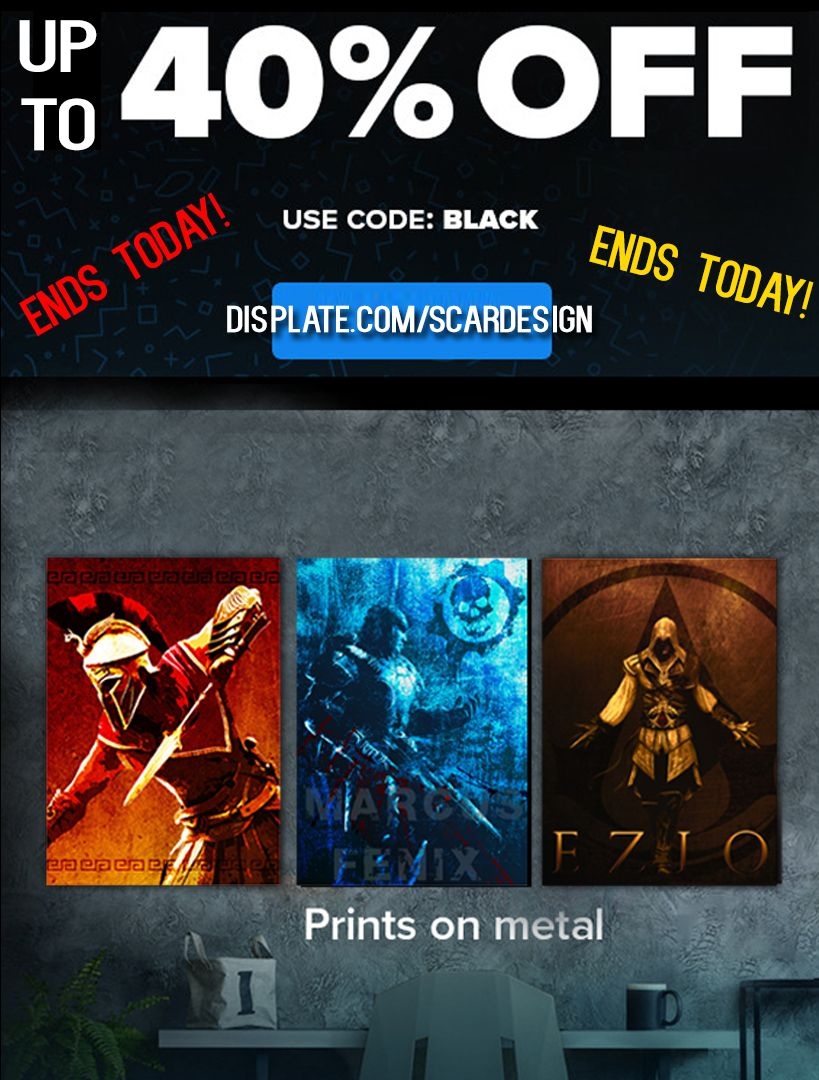 Gaming metalprint Posters by Scar Design. BLACK FRIDAY